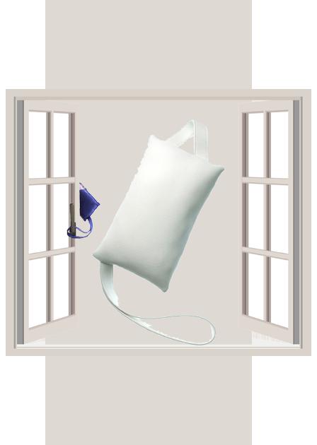 fensterstopper Leder Weiß